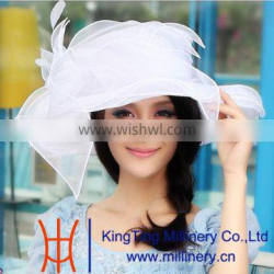 Kingting Wholesale Elegant Organza Hats
