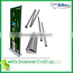 good quality wide base roll up display