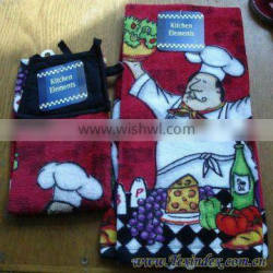 100% cotton velour kitchen towel