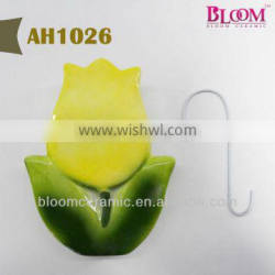 Flower design ceramic aroma humidifier with pothook