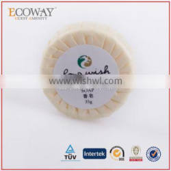 35g skin whitening soap bath soap for hotels small round soap in paper pleat wrap