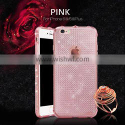 pc tpu oem phone case for iphone 6 / soft plating tpu material phone case 5s 6/6s with transparent clear mobile cover 0.3mm Quality Choice
