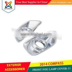 ABS plastic FRONT FOG LAMP COVER-11' for JEEP COMPASS 2014 accessories