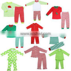 High Quality Pajamas Kids Winter Red And Green Stripe Christmas Pajamas Christmas Pajamas Kids Winter