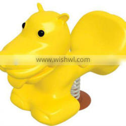 Yellow animal spring spider,spring spider toys factory sale