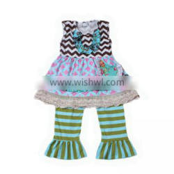 kids clothes wholesale china sleeveless dress with stripe pants outfits baby girl boutique clothing sets