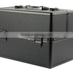 Cosmetic train case, factory direct sale cosmetic case and makeup box aluminium box, silver makeup case JH508 Quality Choice