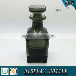 150ml black colored square glass perfume display bottle Quality Choice