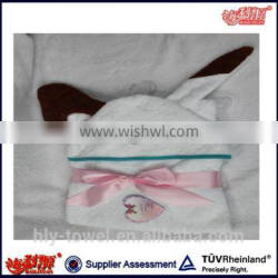 wholesale baby towel hood 100% cotton cute animal baby hooded towel