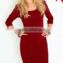 women dresses casual with zip fastening D-1072