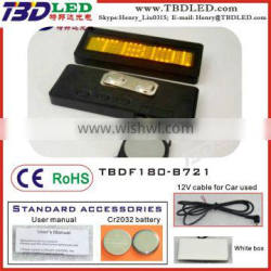 YELLOW Rechargeable fashion mini led nameplate / led scrolling message badge display/small led name card screen