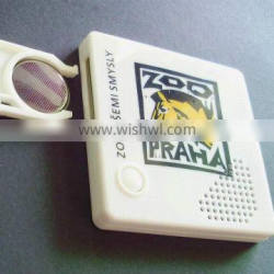 Square mini voice recorder for promotion gift & custom sound effect keychain