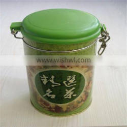 China Directly Round Seed tin cans with wire clasp