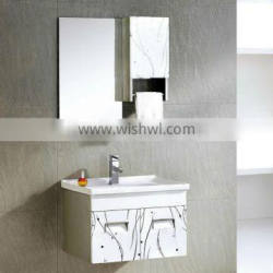 Modern drawer basin cabinet wall hanging American style stainless steel vanity unit