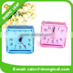 Fashion and contracted design square crystal small alarm clock