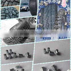 Tungsten carbide tire stud for safe