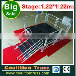 Aluminium Adjustagble Height Assemble Stage Portable Stage For dancing