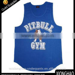 New style polyester Gym wholesale running singlet made in Zhejiang