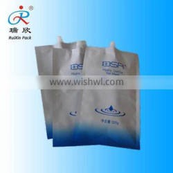 aluminum foil plastic packaging pouch with spout for facial mask packaging/cosmetic bag
