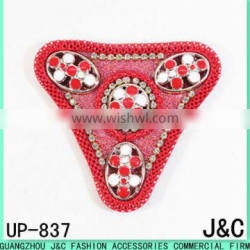 2017 New design Red Beaded sandals uppers