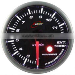 52mm smoke lens / super white LED Exhaust Gas Temp gauge with warning