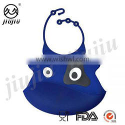 One Eyed Monster Soft Silicone Baby Bib With Food Pocket