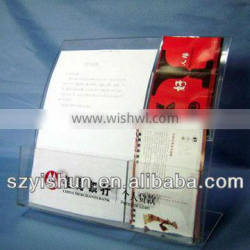 Acrylic bank document display stand for information