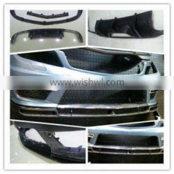 front and rear lip spolier for w204 pp material bumper 13~