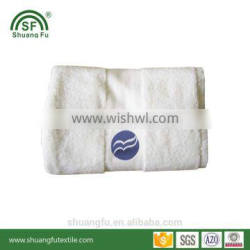 Hotel new style embroidery campany logo design good quality hotel towels