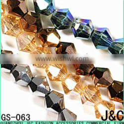 4mm all kinds of color double pointed glass beads