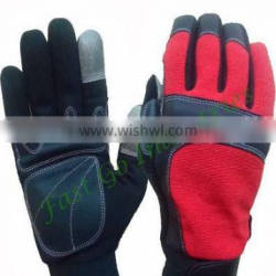 Resistant mechanic safety working glove with hook and loop