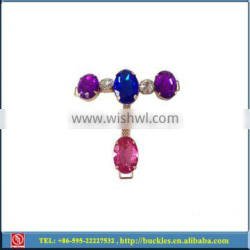 rhinestone decorations for shoes, colourful strass shoe accessories, fashion shoe decoration chains