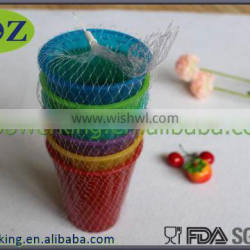 BPA free wholesale reusable 16oz colorful plastic dessert cup /strawberry drinking cups