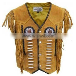 western leather vest/ suede leather fashion vest