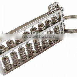 Mini Abacus key chains/Counting Frame Metal 3D Keyholder