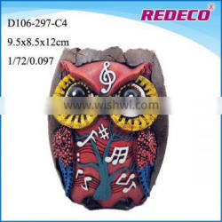 Custom Made Colorful Resin owl figurines For Sale