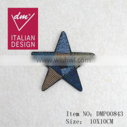 New developing star beaded patch handmade applique