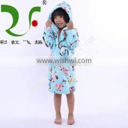 cartoon animals hooded bath robe for kids