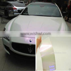 Wholesales New Product Air Free Bubbles Pearl White Chameloen Heat Color Changing Vinyl