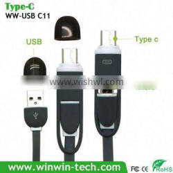 Promotion 2 in 1 type-c cable usb 3.1