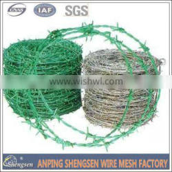 hot sale galvanized barbed wire/pvc coated barbed wire/barbed wire