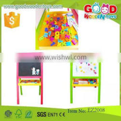 Flexible Kids Learning Drawing Board Pinewood Material Colorful Art Easel