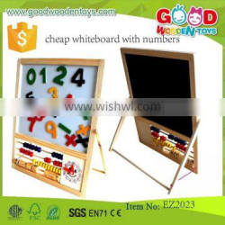 hot selling educational wooden mini magnetic whiteboard cheap whiteboard with numbers