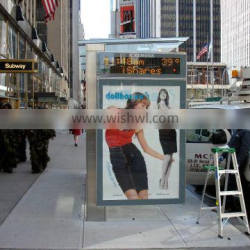 picture frame led light box for bus shelter