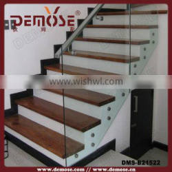 glass stairs fixing/tempered glass/stairs treads