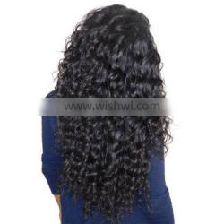100% remy hair extension Deep wave unprocessed virgin indian hair