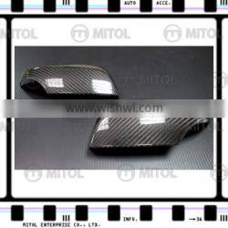 For Subaru WRX 2014- (Upper) Carbon Fiber Car Side Mirror Door Mirror Cover (Glossy)