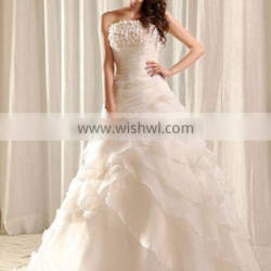 Fashion Organdy Wedding Dresses Fabric