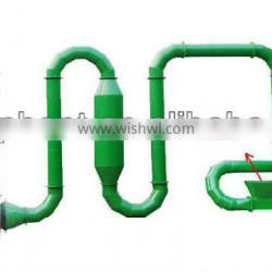 Air flow dryer,hot air dryer for biomass material drying with cyclone