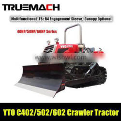YTO C602 40hp agricultural crawler tractor with dozer blade